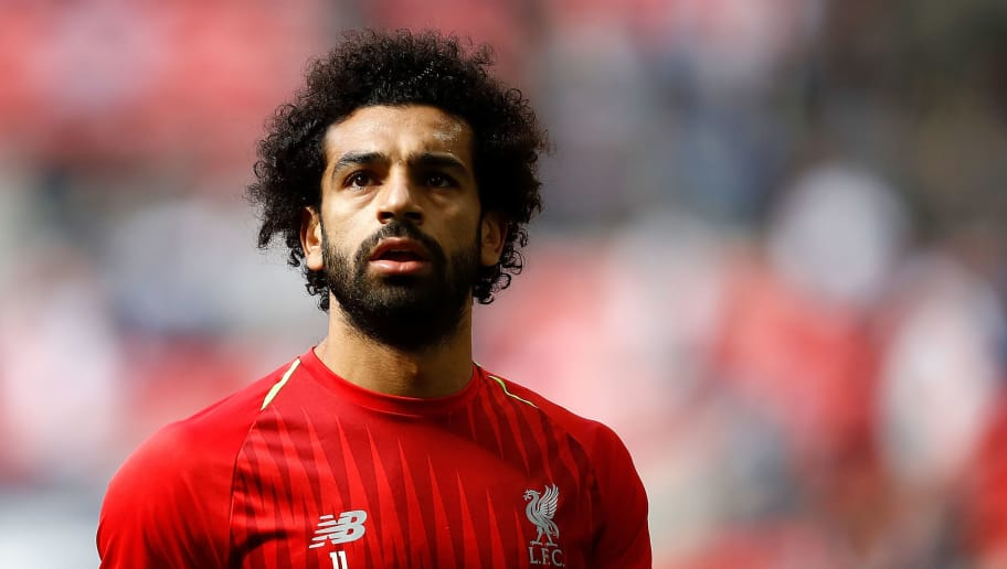 LONDON, ENGLAND - SEPTEMBER 15:  Mohamed Salah of Liverpool looks on during the Premier League match between Tottenham Hotspur and Liverpool FC at Wembley Stadium on September 15, 2018 in London, United Kingdom.  (Photo by Julian Finney/Getty Images)