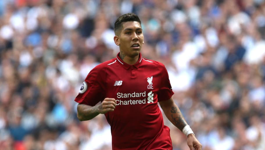 LONDON, ENGLAND - SEPTEMBER 15: Roberto Firmino of Liverpool in action during the Premier League match between Tottenham Hotspur and Liverpool FC at Wembley on September 15, 2018 in London, United Kingdom. (Photo by Chloe Knott – Danehouse/Getty Images)