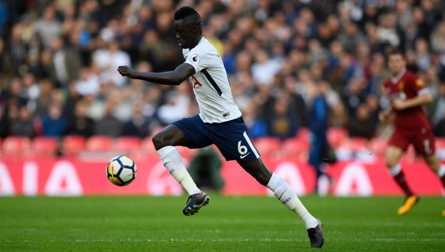 LONDON, ENGLAND - OCTOBER 22:  Spurs player Davinson Sanchez in action during the Premier League match between Tottenham Hotspur and Liverpool at Wembley Stadium on October 22, 2017 in London, England.  (Photo by Stu Forster/Getty Images)