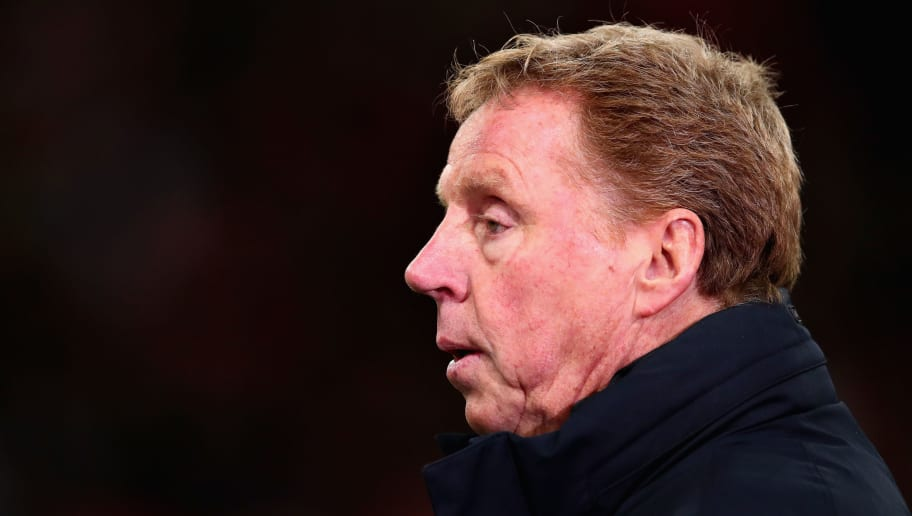 LONDON, ENGLAND - JANUARY 31: Harry Redknapp looks on before the Premier League match between Tottenham Hotspur and Manchester United at Wembley Stadium on January 31, 2018 in London, England.  (Photo by Chris Brunskill Ltd/Getty Images)