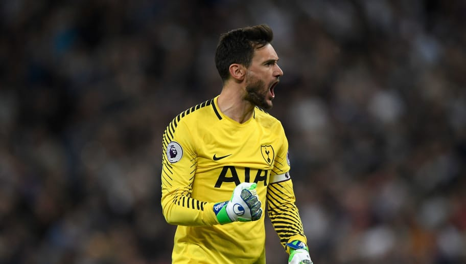 LONDON, ENGLAND - MAY 09:  Spurs goalkeeper Hugo Lloris celebrates during the Premier League match between Tottenham Hotspur and Newcastle United at Wembley Stadium on May 9, 2018 in London, England.  (Photo by Stu Forster/Getty Images)