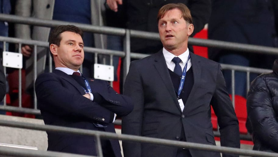 LONDON, ENGLAND - DECEMBER 05:  Ralph Hasenhuttl, the new appointed first team manager of Southampton looks on from the stands during the Premier League match between Tottenham Hotspur and Southampton FC at Wembley Stadium on December 5, 2018 in London, United Kingdom.  (Photo by Catherine Ivill/Getty Images)