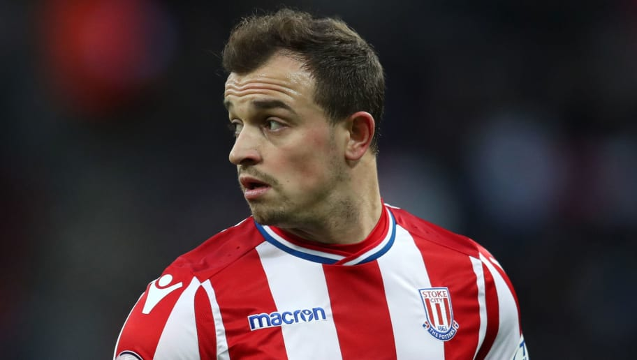 LONDON, ENGLAND - DECEMBER 09: Xherdan Shaqiri of Stoke City during the Premier League match between Tottenham Hotspur and Stoke City at Wembley Stadium on December 9, 2017 in London, England. (Photo by Catherine Ivill/Getty Images)