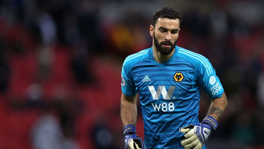 LONDON, ENGLAND - DECEMBER 29: Rui Patricio of Wolverhampton Wanderers during the Premier League match between Tottenham Hotspur and Wolverhampton Wanderers at Wembley Stadium on December 29, 2018 in London, United Kingdom. (Photo by Molly Darlington - AMA/Getty Images)