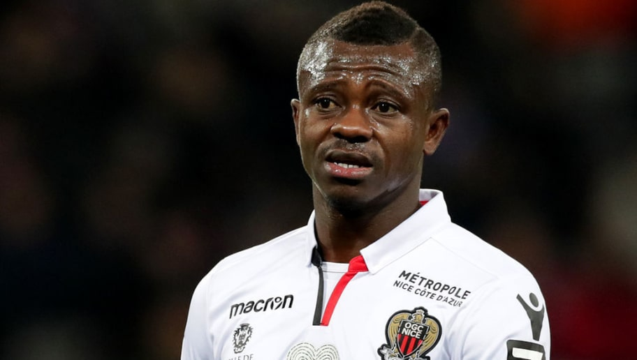 TOULOUSE, FRANCE - NOVEMBER 29:  Jean Michael Seri of Nice looks on during the Ligue 1 match between Toulouse and OGC Nice   at Stadium Municipal on November 29, 2017 in Toulouse.  (Photo by Romain Perrocheau/Getty Images)