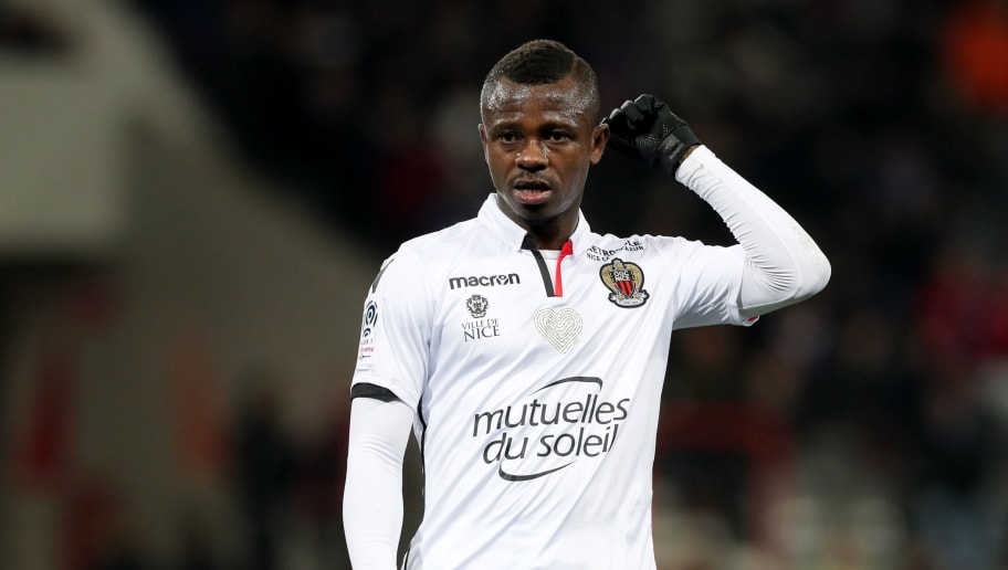 TOULOUSE, FRANCE - NOVEMBER 29:  Jean Michael Seri of Nice gestures during the Ligue 1 match between Toulouse and OGC Nice   at Stadium Municipal on November 29, 2017 in Toulouse.  (Photo by Romain Perrocheau/Getty Images)