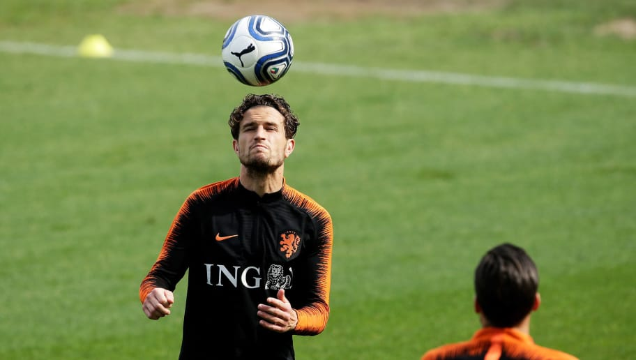 TURIN, ITALY - JUNE 2: Daryl Janmaat of Holland  during the   Training Holland at the Stadio Filadelfia on June 2, 2018 in Turin Italy (Photo by Eric Verhoeven/Soccrates/Getty Images)