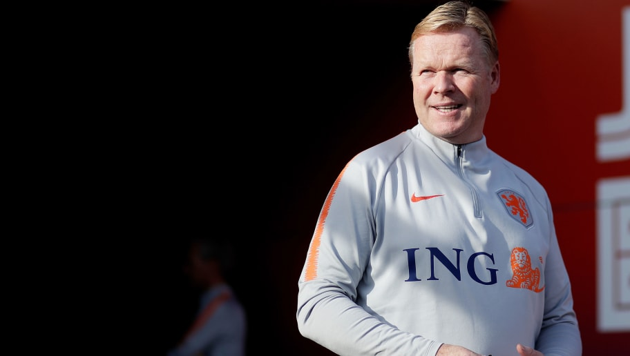 ZEIST, NETHERLANDS - OCTOBER 9: coach Ronald Koeman of Holland  during the   Training Holland at the KNVB Campus on October 9, 2018 in Zeist Netherlands (Photo by Laurens Lindhout/Soccrates/Getty Images)