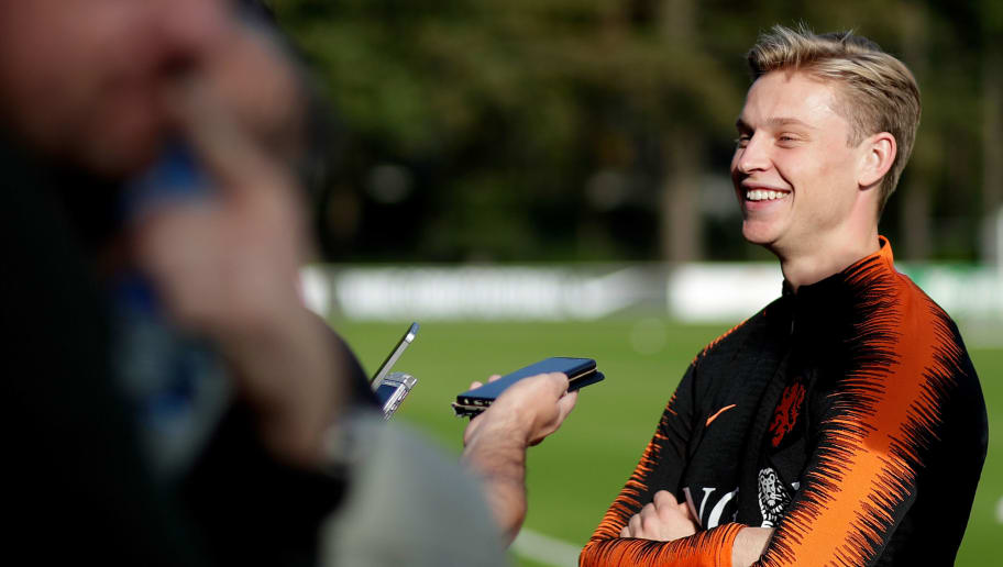 ZEIST, NETHERLANDS - OCTOBER 9: Frenkie de Jong of Holland  during the   Training Holland at the KNVB Campus on October 9, 2018 in Zeist Netherlands (Photo by Laurens Lindhout/Soccrates/Getty Images)