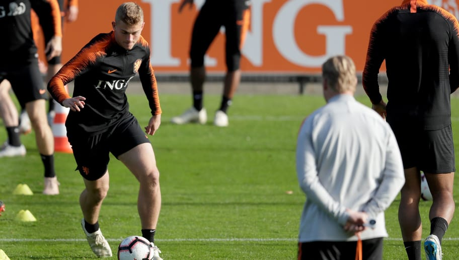 ZEIST, NETHERLANDS - OCTOBER 9: Matthijs de Ligt of Holland  during the   Training Holland at the KNVB Campus on October 9, 2018 in Zeist Netherlands (Photo by Laurens Lindhout/Soccrates/Getty Images)