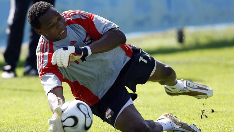 Trinidad and Tobago's goalkeeper Shaka H