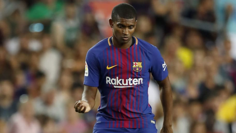 Marlon Santos of FC Barcelona during the Trofeu Joan Gamper match between FC Barcelona and Chapecoense on August 7, 2017 at the Camp Nou stadium in Barcelona, Spain.(Photo by VI Images via Getty Images)