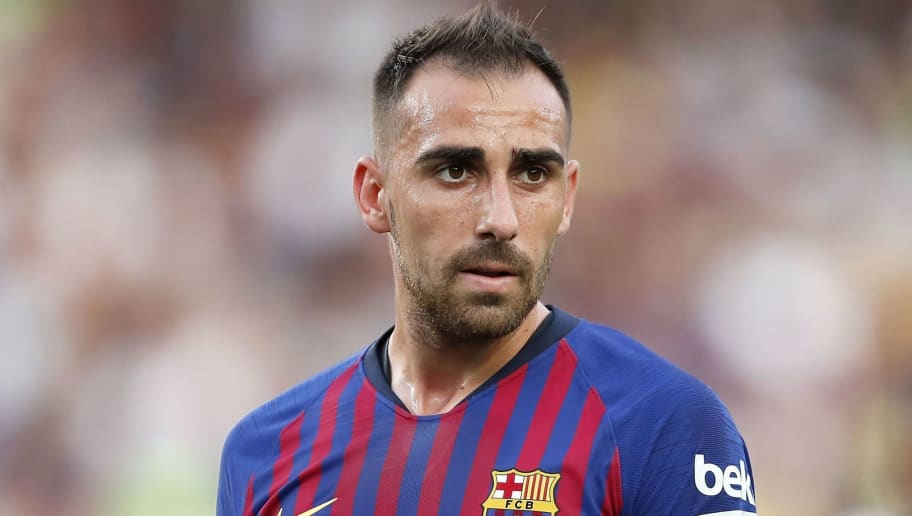 Paco Alcacer of FC Barcelona during the Trofeu Joan Gamper match between FC Barcelona and Boca Juniors at the Camp Nou stadium on August 15, 2018 in Barcelona, Spain(Photo by VI Images via Getty Images)