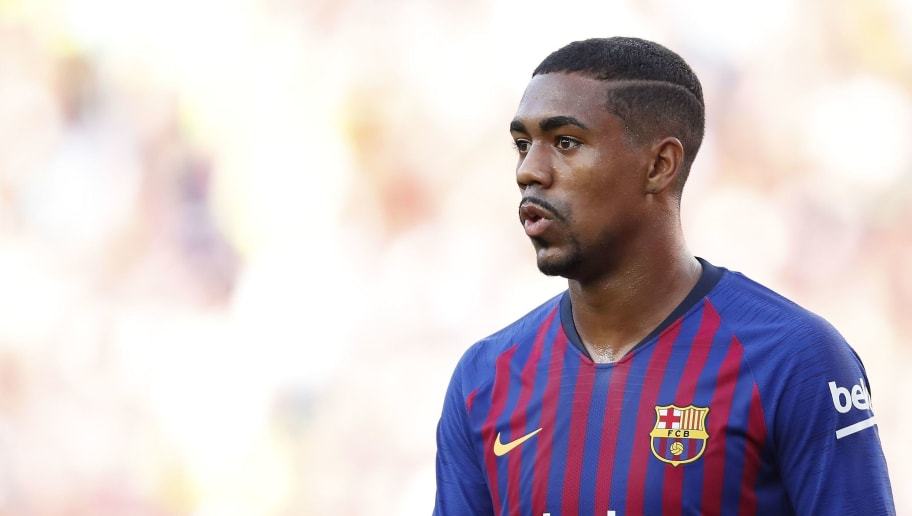 Malcom Filipe Silva de Oliveira of FC Barcelona during the Trofeu Joan Gamper match between FC Barcelona and Boca Juniors at the Camp Nou stadium on August 15, 2018 in Barcelona, Spain(Photo by VI Images via Getty Images)