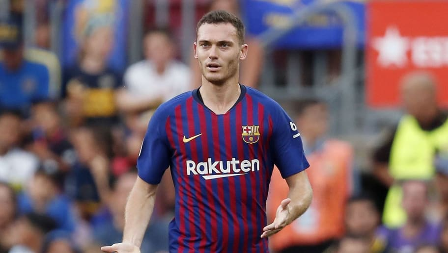 Thomas Vermaelen of FC Barcelona during the Trofeu Joan Gamper match between FC Barcelona and Boca Juniors at the Camp Nou stadium on August 15, 2018 in Barcelona, Spain(Photo by VI Images via Getty Images)