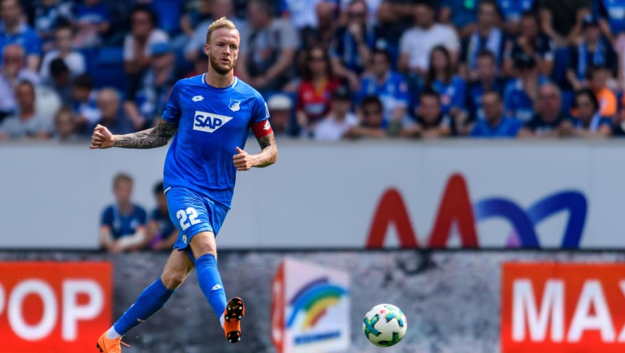 SINSHEIM, GERMANY - MAY 12:  Kevin Vogt of Hoffenheim in action during the Bundesliga match between TSG 1899 Hoffenheim and Borussia Dortmund at Wirsol Rhein-Neckar-Arena on May 12, 2018 in Sinsheim, Germany. (Photo by Alexander Scheuber/Bongarts/Getty Images)
