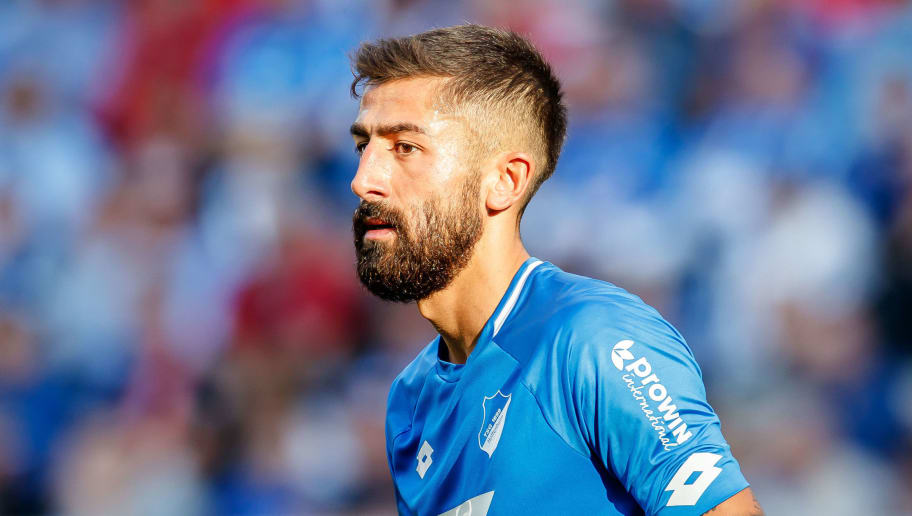 SINSHEIM, GERMANY - OCTOBER 07: Kerem Demirbay of Hoffenheim looks on during the Bundesliga match between TSG 1899 Hoffenheim and Eintracht Frankfurt at Wirsol Rhein-Neckar-Arena on October 7, 2018 in Sinsheim, Germany. (Photo by TF-Images/Getty Images)