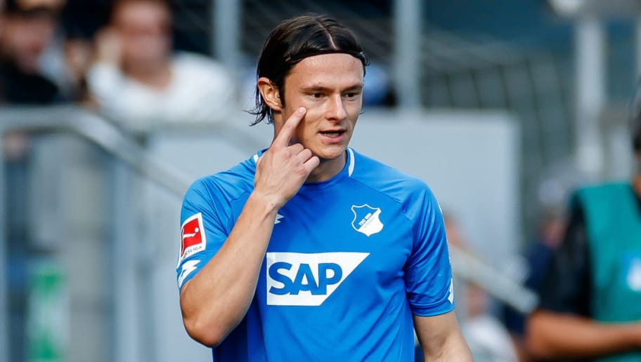 SINSHEIM, GERMANY - OCTOBER 07: Nico Schulz of Hoffenheim looks on during the Bundesliga match between TSG 1899 Hoffenheim and Eintracht Frankfurt at Wirsol Rhein-Neckar-Arena on October 7, 2018 in Sinsheim, Germany. (Photo by TF-Images/Getty Images)