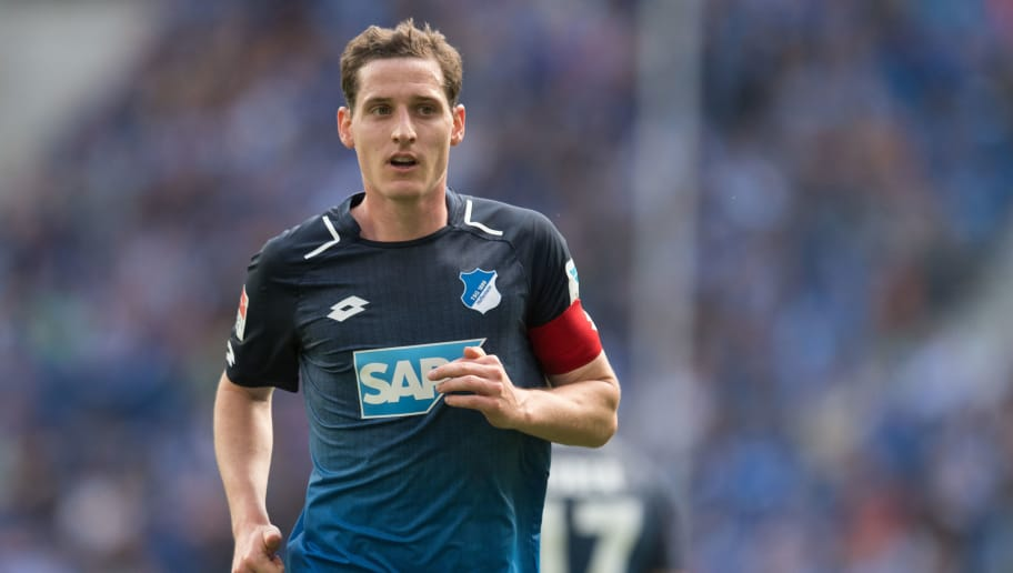 SINSHEIM, GERMANY - MAY 20: Sebastian Rudy of Hoffenheim reacts during the Bundesliga match between TSG 1899 Hoffenheim and FC Augsburg at Wirsol Rhein-Neckar-Arena on May 20, 2017 in Sinsheim, Germany. (Photo by Daniel Kopatsch/Bongarts/Getty Images)