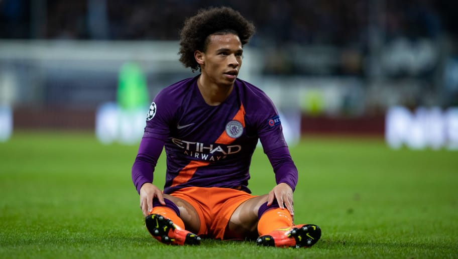SINSHEIM, GERMANY - OCTOBER 02: Leroy Sane of Manchester City reacts during the Group F match of the UEFA Champions League between TSG 1899 Hoffenheim and Manchester City at Wirsol Rhein-Neckar-Arena on October 2, 2018 in Sinsheim, Germany. (Photo by Simon Hofmann/Getty Images)