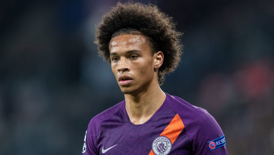 SINSHEIM, GERMANY - OCTOBER 02: Leroy Sane of Manchester City looks on during the Group F match of the UEFA Champions League between TSG 1899 Hoffenheim and Manchester City at Wirsol Rhein-Neckar-Arena on October 2, 2018 in Sinsheim, Germany. (Photo by Boris Streubel/Getty Images)