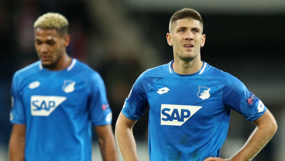 SINSHEIM, GERMANY - OCTOBER 23:  Andrej Kramaric of 1899 Hoffenheim reacts following a draw in the Group F match of the UEFA Champions League between TSG 1899 Hoffenheim and Olympique Lyonnais at Wirsol Rhein-Neckar-Arena on October 23, 2018 in Sinsheim, Germany.  (Photo by Adam Pretty/Bongarts/Getty Images)