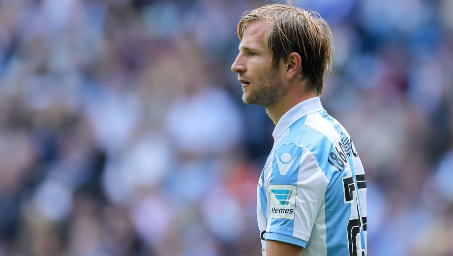 MUNICH, GERMANY - MAY 14: Stefan Aigner of 1860 Munich looks on during the Second Bundesliga match between TSV 1860 Muenchen and VfL Bochum at Allianz Arena on May 14, 2017 in Munich, Germany. (Photo by TF-Images/Getty Images)