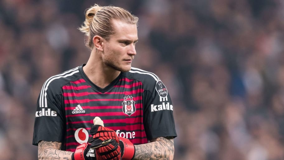 goalkeeper Loris Sven Karius of Besiktas JK during the Turkish Spor Toto Super Lig football match between Besiktas JK and Trabzonspor AS on December 16, 2018 at the Vodafone Arena in Istanbul, Turkey(Photo by VI Images via Getty Images)