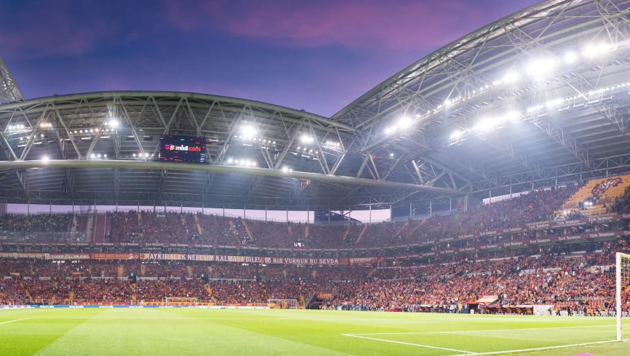 the stadium of Galatasaray during the Turkish Spor Toto Super Lig football match between Galatasaray SK and Fenerbahce AS on October 22, 2017 at the Türk Telekom Arena in Istanbul, Turkey.(Photo by VI Images via Getty Images)