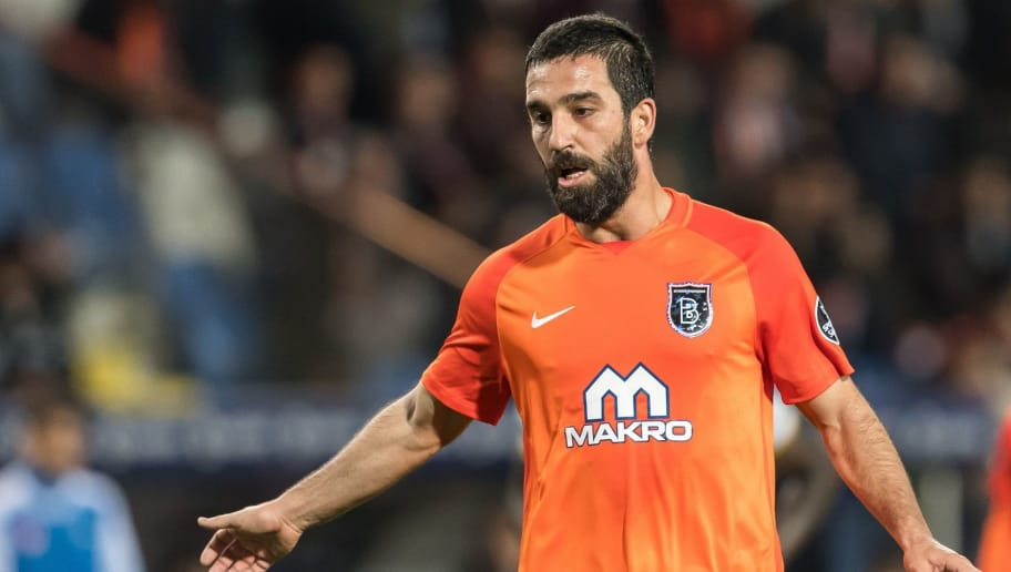 Arda Turan of Istanbul Medipol Basaksehir FK during the Turkish Spor Toto Super Lig football match between Medipol Basaksehir FK and Kayserispor on April 21, 2018 at the Fatih Terim stadium in Istanbul, Turkey(Photo by VI Images via Getty Images)