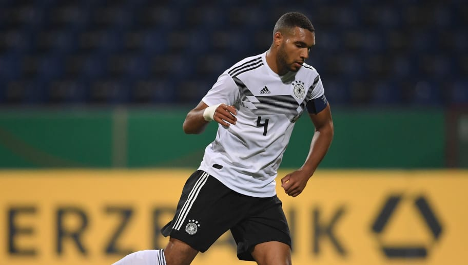 BRAUNSCHWEIG, GERMANY - MARCH 22:  Jonathan Tah of Germany U21 in action during the 2019 UEFA Under 21 qualification match between U21 Germany and U19 Israel at Eintracht Stadion on March 22, 2018 in Braunschweig, Germany.  (Photo by Stuart Franklin/Bongarts/Getty Images)