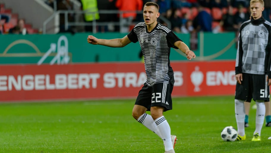 INGOLSTADT, GERMANY - OCTOBER 12: Maximilian Eggestein of Germany looks on during the 2019 UEFA Under21 European Championship Qualifier match between U21 Germany and U21 Norway at Audi Sportpark on October 12, 2018 in Ingolstadt, Germany. (Photo by TF-Images/Getty Images)