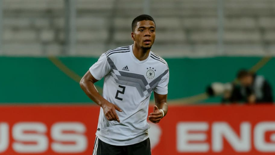 INGOLSTADT, GERMANY - OCTOBER 12: Benjamin Henrichs of Germany controls the ball during the 2019 UEFA Under21 European Championship Qualifier match between U21 Germany and U21 Norway at Audi Sportpark on October 12, 2018 in Ingolstadt, Germany. (Photo by TF-Images/Getty Images)