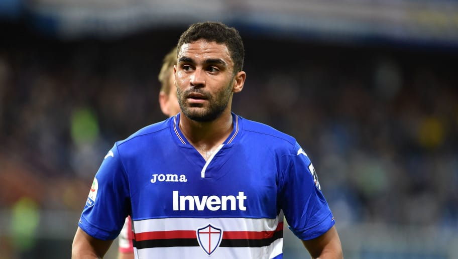 GENOA, GE - OCTOBER 22:  Gregoire Defrel of Sampdoria during the Serie A match between UC Sampdoria and US Sassuolo at Stadio Luigi Ferraris on October 22, 2018 in Genoa, Italy.  (Photo by Paolo Rattini/Getty Images)