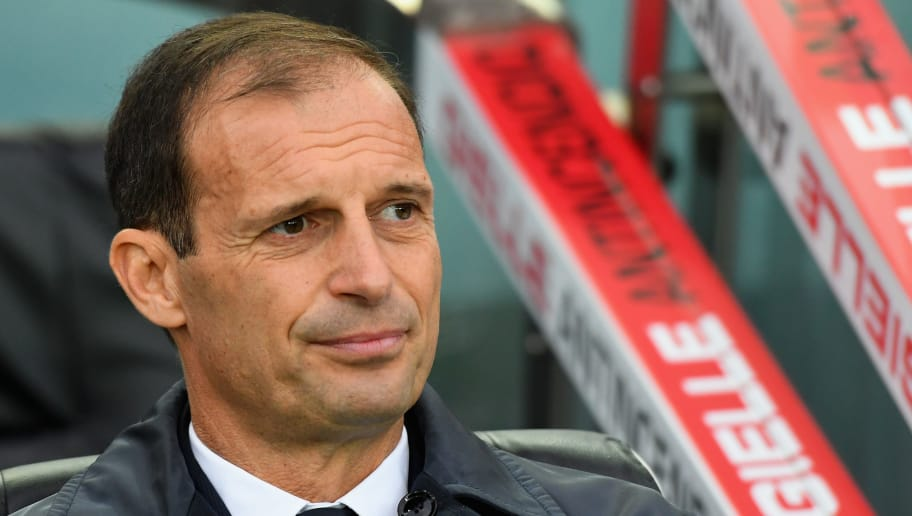 UDINE, ITALY - OCTOBER 06:  Massimiliano Allegri head coach of Juventus looks on during the Serie A match between Udinese and Juventus at Stadio Friuli on October 6, 2018 in Udine, Italy.  (Photo by Alessandro Sabattini/Getty Images)