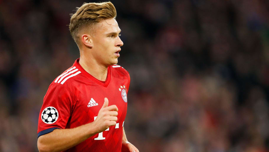 Joshua Kimmich of FC Bayern Munchen during the UEFA Champions League group E match between Bayern Munich and Ajax Amsterdam at the Allianz Arena on October 02, 2018 in Munich, Germany(Photo by VI Images via Getty Images)