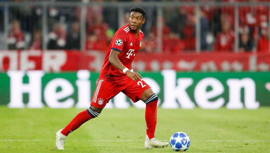 David Alaba of FC Bayern Munchen during the UEFA Champions League group E match between Bayern Munich and Ajax Amsterdam at the Allianz Arena on October 02, 2018 in Munich, Germany(Photo by VI Images via Getty Images)