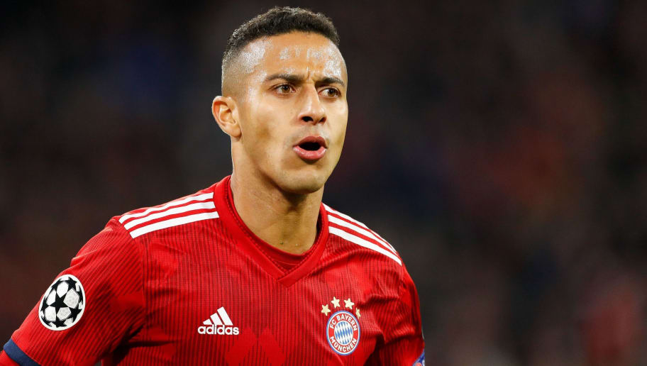 Thiago Alcantara of FC Bayern Munchen during the UEFA Champions League group E match between Bayern Munich and Ajax Amsterdam at the Allianz Arena on October 02, 2018 in Munich, Germany(Photo by VI Images via Getty Images)