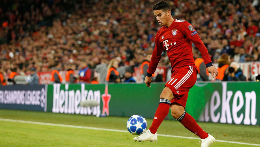 James Rodriguez of FC Bayern Munchen during the UEFA Champions League group E match between Bayern Munich and Ajax Amsterdam at the Allianz Arena on October 02, 2018 in Munich, Germany(Photo by VI Images via Getty Images)
