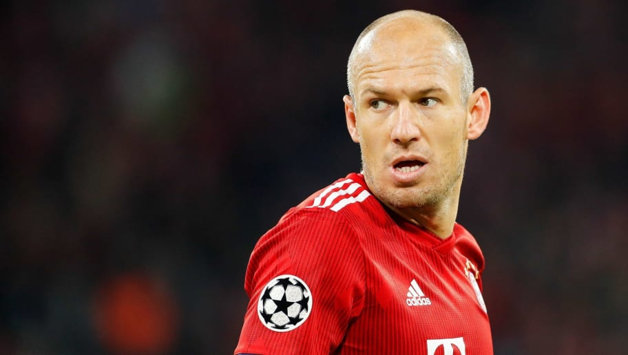 Arjen Robben of FC Bayern Munchen during the UEFA Champions League group E match between Bayern Munich and Ajax Amsterdam at the Allianz Arena on October 02, 2018 in Munich, Germany(Photo by VI Images via Getty Images)
