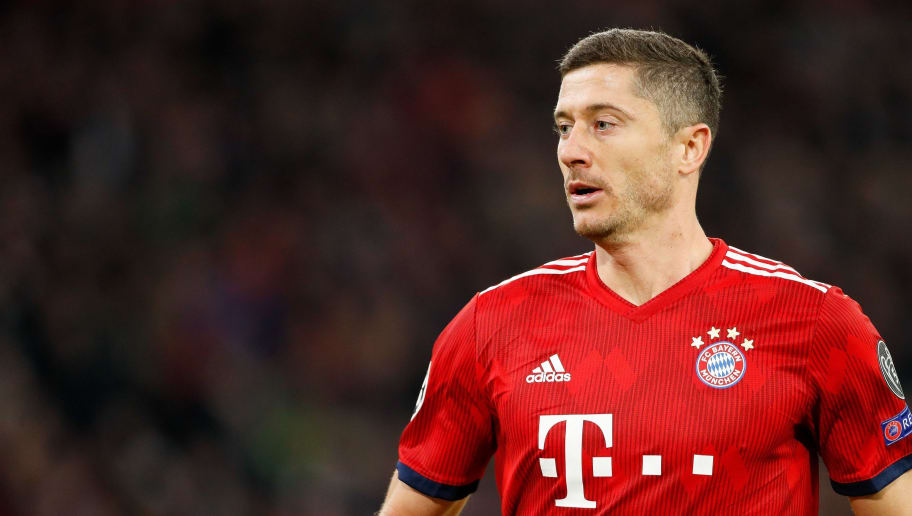 Robert Lewandowski of FC Bayern Munchen during the UEFA Champions League group E match between Bayern Munich and Ajax Amsterdam at the Allianz Arena on October 02, 2018 in Munich, Germany(Photo by VI Images via Getty Images)