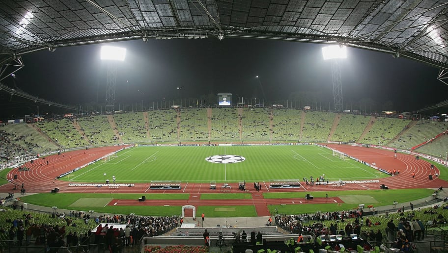 MUNICH, GERMANY - NOVEMBER 3:  A general view of The Olympic Stadium before the UEFA Champions League match between FC Bayern Munich and Juventus at The Olympic Stadium on November 3, 2004 in Munich, Germany. (Photo by Stuart Franklin/Getty Images)