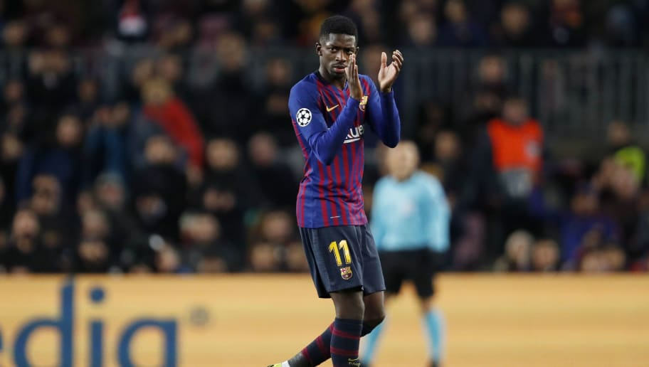 Ousmane Dembele of FC Barcelona during the UEFA Champions League group B match between FC Barcelona and Tottenham Hotspur FC at the Camp Nou stadium on December 11, 2018 in Barcelona, Spain(Photo by VI Images via Getty Images)
