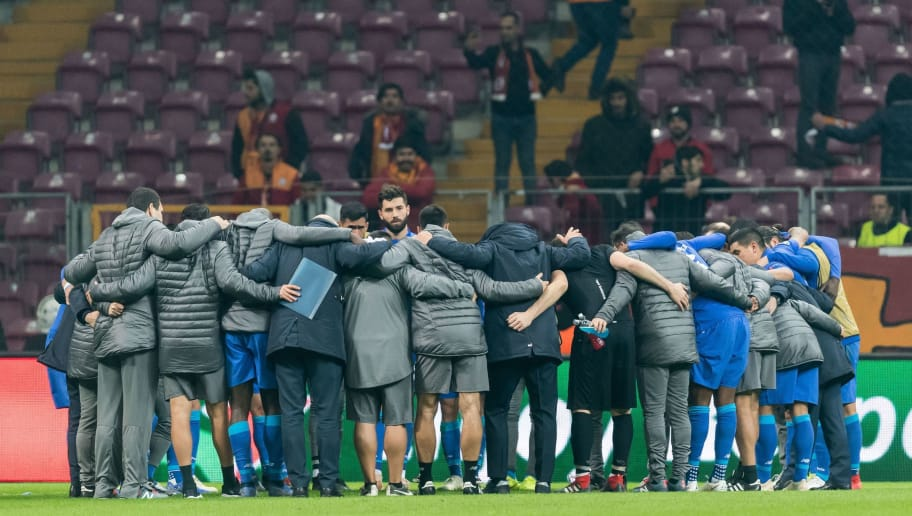 FC Porto at the end of the match during the UEFA Champions League group D match between Galatasaray AS and FC Porto at Ali Sami Yen Spor Kompleksi on December 11, 2018 in Istanbul, Turkey.(Photo by VI Images via Getty Images)