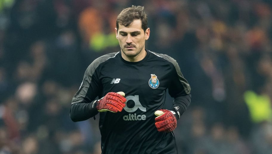 goalkeeper Iker Casillas of FC Porto during the UEFA Champions League group D match between Galatasaray AS and FC Porto at Ali Sami Yen Spor Kompleksi on December 11, 2018 in Istanbul, Turkey.(Photo by VI Images via Getty Images)