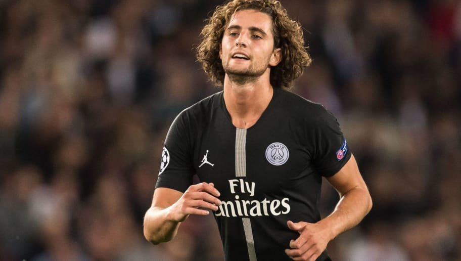 Adrien Rabiot of Paris Saint-Germain during the UEFA Champions League group C match between Paris St Germain and Crvena zvezda at the Parc des Princes on October 03, 2018 in Paris, France(Photo by VI Images via Getty Images)