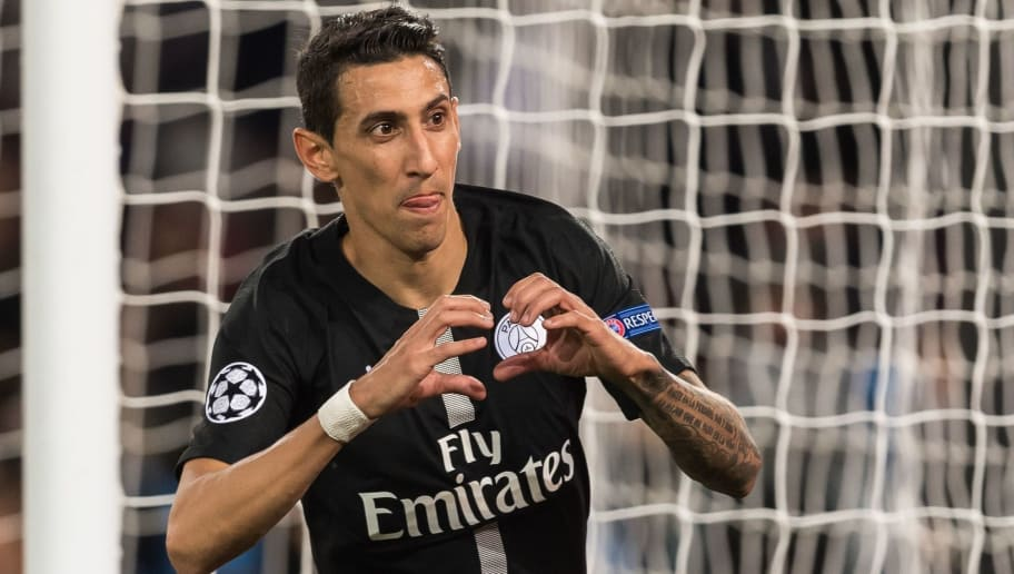 Angel di Maria of Paris Saint-Germain during the UEFA Champions League group C match between Paris St Germain and Crvena zvezda at the Parc des Princes on October 03, 2018 in Paris, France(Photo by VI Images via Getty Images)