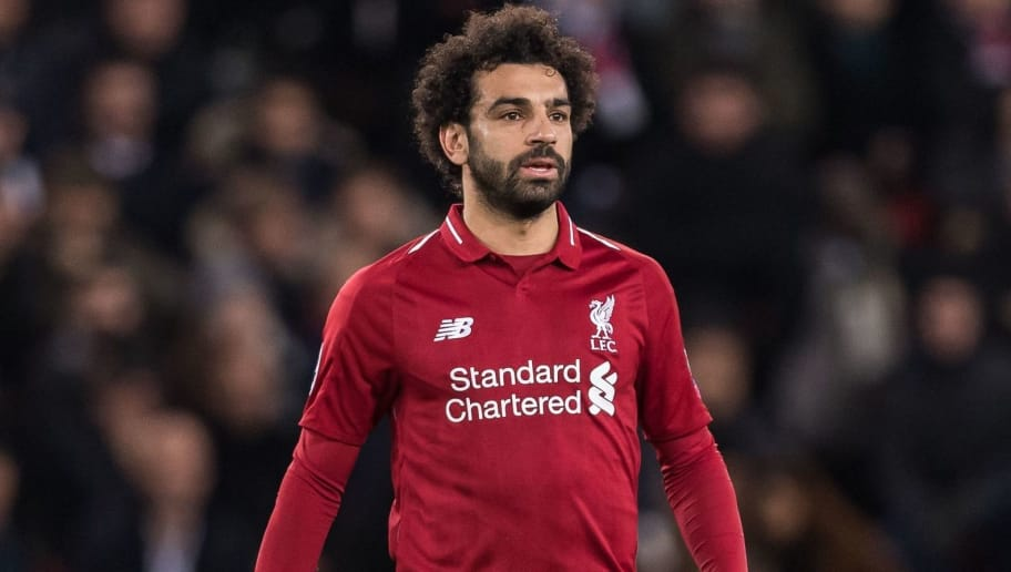 Mohamed Salah of Liverpool FC during the UEFA Champions League group C match between Paris St Germain and Liverpool FC at the Parc des Princes on November 28, 2018 in Paris, France(Photo by VI Images via Getty Images)