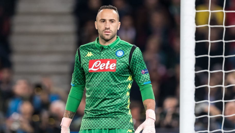 goalkeeper David Ospina of SSC Napoli during the UEFA Champions League group C match between Paris St Germain and SSC Napoli at the Parc des Princes on October 24, 2018 in Paris, France(Photo by VI Images via Getty Images)