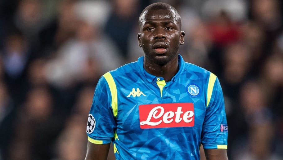 Kalidou Koulibaly of SSC Napoli during the UEFA Champions League group C match between Paris St Germain and SSC Napoli at the Parc des Princes on October 24, 2018 in Paris, France(Photo by VI Images via Getty Images)
